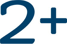 two plus bed icon